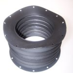 Bellow with flanges and hole patterns