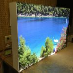 ABS Plastic Light box with UV printed acrylic face for university art gallery