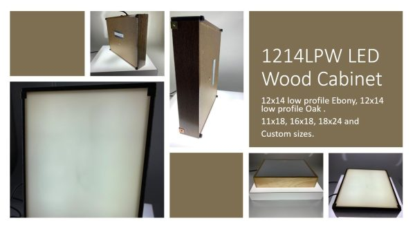 12×14 Wood LED Light Box
