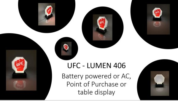 Battery or AC powered POP Table Topper