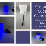 Customer Color LED Cub, Battery or 110V powered
