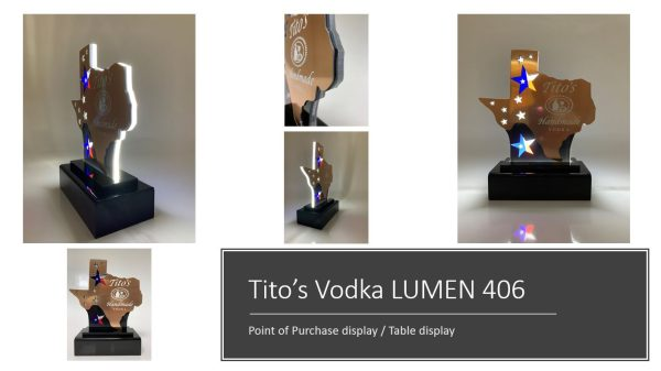 Tito's Battery Operated POP LED Display