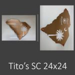 Tito's South Carolina – Non-lit UV Printed Laser-cut Custom Shaped Sign