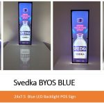 LED Lumen Sign – Svedka with internal AND back facing LED's