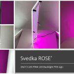 LED Lumen Sign – Svedka with internal AND back facing LED's – SVEDKA Rose