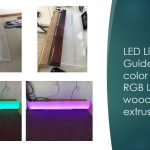 LED Light Guides with color changing RGB LED's – wood or metal extrusion