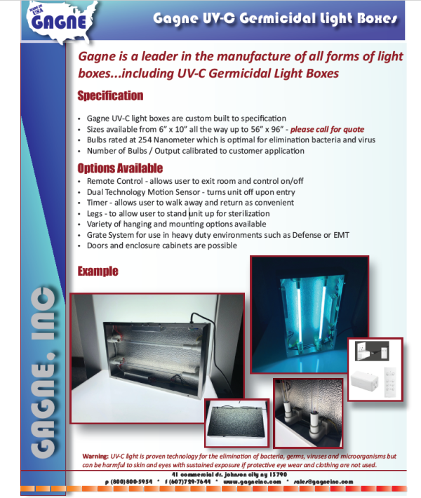 UV-C Germicidal Lightbox