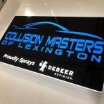 Collision Masters of Lexington Lumen Series Sign