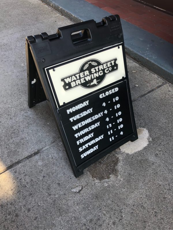 Water Street Brewing Co. LED A-Frame