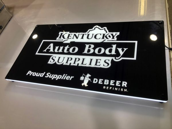 Kentucky Auto Body Supplies Custom Lumen Series Sign: DeBeer Edition