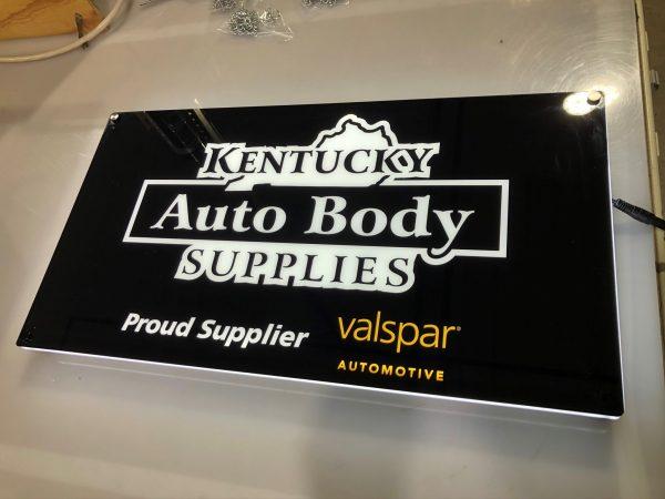 Kentucky Auto Body Supplies Lumen Series Sign: Valspar Automotive Edition