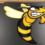 Broome Hornets Custom Cut Lumen Series Sign